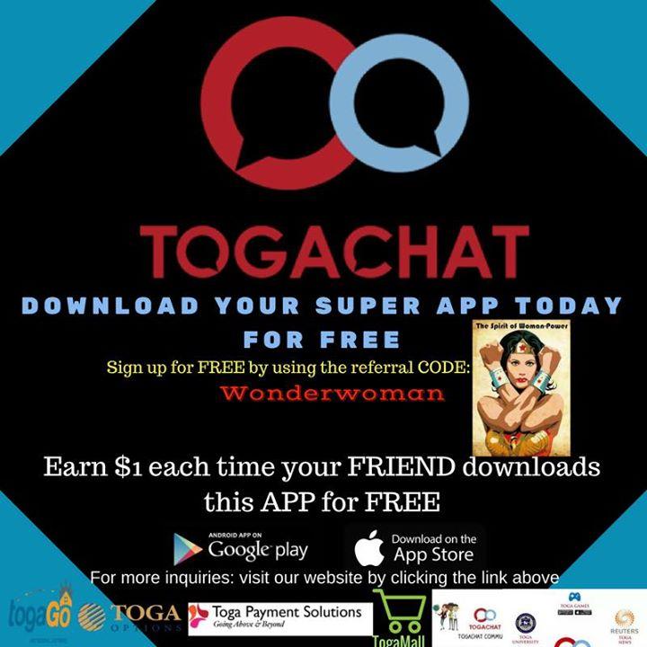 TogaChat International Bot for Facebook Messenger - ChatBottle